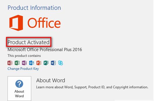 Microsoft Office 2016 License Key